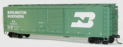 Accurail 50' Combo Door Riveted Boxcar Kit Burlington Northern -- HO Scale Model Train Freight Car -- #5315