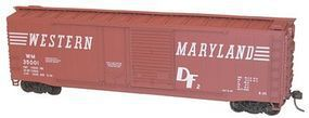 Accurail 50 Combination-Door Boxcar Kit Western Maryland HO Scale Model Train Freight Car #5323