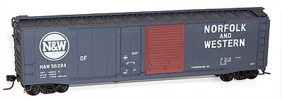 Accurail 50 Combo Door Riveted Boxcar Norfolk & Western #56284 HO Scale Model Train Freight Car #5324