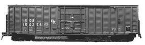 Accurail 50' Exterior Post Boxcar Kit Undecorated HO Scale Model Train Freight Car #5600