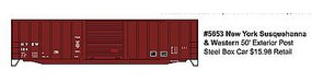 Accurail 50 Exterior Post Boxcar New York Susquehanna & Western HO Scale Model Train Freight Car #5653
