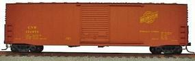 50' Welded Sliding-Door Boxcar Kit Chicago & NW HO Scale Model Train Freight Car #5710