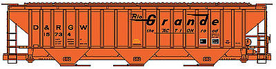 Accurail Pullman Standard 4750 Grain Hopper D&RGW HO Scale Model Train Freight Car #6504