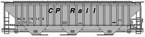 Accurail PS 4750 Grain Hopper Canadian Pacific Rail HO Scale Model Train Freight Car #6512
