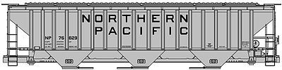 Accurail PS 4750 Grain Hopper Northern Pacific HO Scale Model Train Freight Car #6515