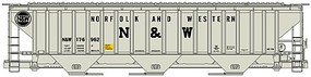 Accurail 3-bay Covered Hopper Kit Norfolk & Western Kit HO Scale Model Train Freight Car #6524