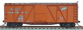 Accurail 40 Wood 6-Panel Outside-Braced Boxcar Kit Chicago & NW HO Scale Model Train Freight Car #7004