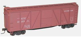 Accurail 40 6-Panel Outside Braced Wood Boxcar Kit New Haven HO Scale Model Train Freight Car #7019