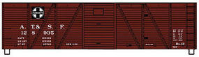 Accurail 40' Wood 6-Panel Outside-Braced Boxcar Santa Fe Kit HO Scale Model Train Freight Car #71011