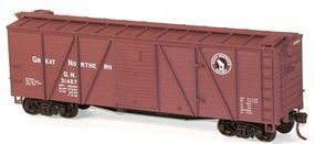 Accurail 40 6-Panel Wood Boxcar Kit Great Northern HO Scale Model Train Freight Car #71071