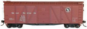Accurail 40 Wood 6-Panel Boxcar Kit Great Northern HO Scale Model Train Freight Car #71072