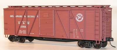 Accurail 40 Wood 6-Panel Boxcar Kit Delaware & Hudson HO Scale Model Train Freight Car #71141