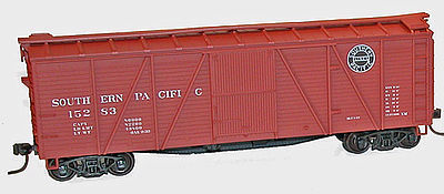 Accurail 6-Panel Wood Boxcar Kit Southern Pacific -- HO Scale Model Train Freight Car -- #72021
