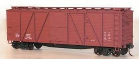 Accurail 40 Single Sheath 6-Panel Wood Boxcar Data Only (Oxide) HO Scale Model Train Freight Car #7299
