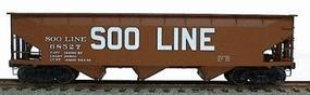Accurail 70-Ton Offset-Side 3-Bay Hopper Soo Line (Mineral Red) HO Scale Model Train Freight Car #7506