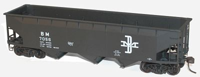 Accurail 70-Ton Offset-Side Triple Hopper Kit Boston & Maine HO Scale Model Train Freight Car #7542