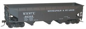 Accurail 70-Ton Offset-Side 3-Bay Hopper Minneapolis & St. Louis HO Scale Model Train Freight Car #7545