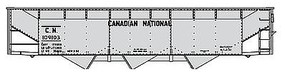 Accurail 70 Ton Offset 3 Hopper Canadian National (Alum) HO Scale Model Train Freight Car #7550