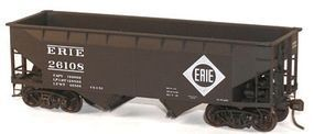 Accurail 50-Ton Offset-Side Twin Hopper Kit Erie HO Scale Model Train Freight Car #7717