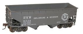 Accurail 50-Ton Offset-Side 2-Bay Hopper Kit Delaware & Hudson HO Scale Model Train Freight Car #7726