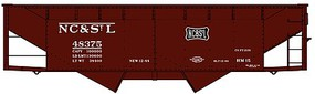 Accurail OS Twin Hopper NC&StL Kit HO Scale Model Train Freight Car #7733