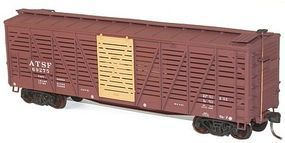 Accurail 40 Wood Stock Car 3-Pack - Kit (Plastic) - Santa Fe HO Scale Model Train Freight Car #8023