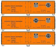 Accurail 40 Steel Reefer PFE (3) HO Scale Model Train Freight Car #8059