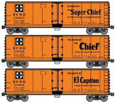 Accurail 40 Steel Reefer ATSF (3) HO Scale Model Train Freight Car Set #8062