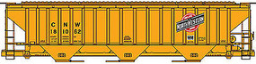 Accurail PS 4750 Hopper Chicago & North Western yellow HO Scale Model Train Freight Car #80641