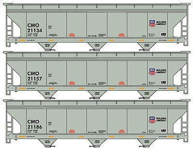 ACF Hopper Union Pacific/CMO Set of 3