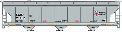 Accurail ACF 47' 3-Bay Center-Flow Covered Hopper Union Pacific -- HO Scale Model Train Freight Car -- #80741
