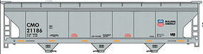 Accurail ACF 47 3-Bay Center-Flow Covered Hopper Union Pacific HO Scale Model Train Freight Car #80741