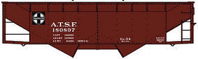 Accurail Offset Twin Hopper ATSF HO Scale Model Train Freight Car #80769