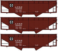 Accurail 50 Ton Offset Hopper ATSF HO Scale Model Train Freight Car #8076