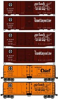 Accurail 40 Steel two Boxcar and one Reefer Kit Set ATSF HO Scale Model Train Freight Car Set #8082
