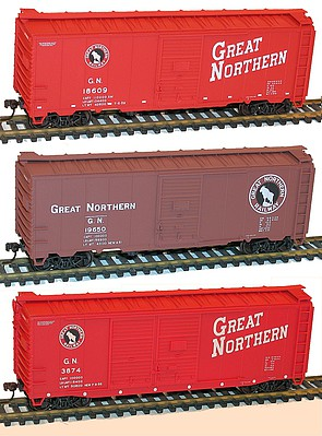 Accurail Ho 40'BOXCAR GN 3#Set