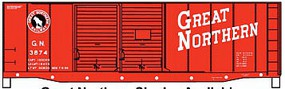 Accurail AAR 40 Double-Door Boxcar - Kit Great Northern #3874 (red, black, white, Billboard Lettering, Silhouette Log