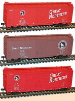 Accurail Ho 40BOXCAR GN 3#Set