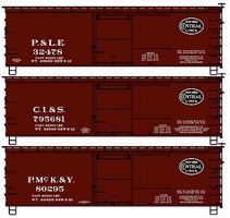 Accurail 36 Wood Boxcar 3-Pack - Kit New York Central