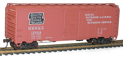 Accurail AAR 40' Single-Door Steel Boxcar - Kit -- Genesee & Wyoming #100084 (orange, black, Billboard Lettering)