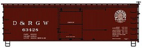 Accurail HO 36 Wood Boxcar D&RGW