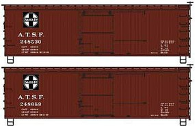 Accurail 36DS Wood Boxcar ATSF 3/