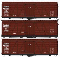 Accurail Ho 36' Fowler Wd Boxcars CN (3)