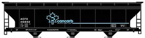 Accurail Ho ACF Covered Hopper Cancarb Top