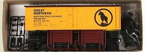 Accurail 40 Steel Reefer w/Hinged Door Kit Great Northern WFEX HO Scale Model Train Freight Car #83309
