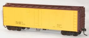 Accurail 40' Steel Reefer w/Hinged Door Kit Data Only (yellow) HO Scale Model Train Freight Car #8395