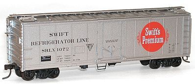 Accurail 40' Steel Plug Door Reefer Kit Swift Reefer Line -- HO Scale Model Train Freight Car -- #8512