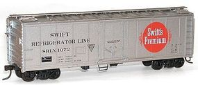 Accurail 40 Steel Plug Door Reefer Kit Swift Reefer Line HO Scale Model Train Freight Car #8512