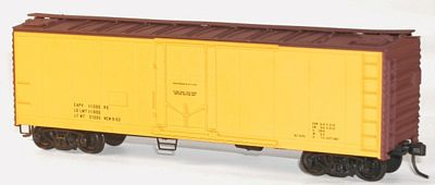 Accurail 40' Plug Door Steel Reefer Kit Data Only Yellow -- HO Scale Model Train Freight Car -- #8595