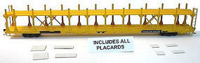 Accurail Bi-Level Open Auto Rack - TTX Data Only (yellow) HO Scale Model Train Freight Car #9295